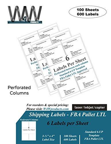 Premium Shipping Labels - 6 Labels per sheet - 100 Sheets - 600 Labels, 3.33
