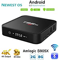 Android Box,Android 6.0 Smart 4K TV Box 2GB/8GB T95M Amlogic S905X Quad Core 64 Bits Wifi Bluetooth 4.0
