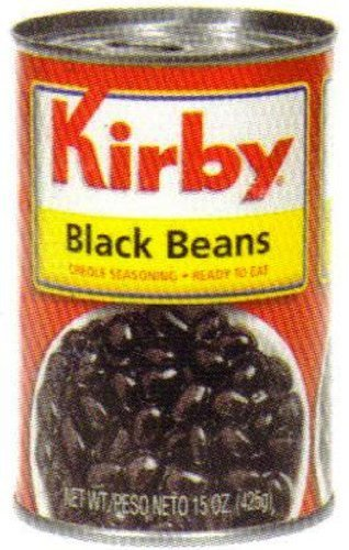 Goya Foods Kirby Black Beans, 15-Ounce (Pack of 24) [Hot Sale] by Dot Foods, Inc. (Special Order)
