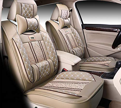 (HRFFCLH Summer Breathable Car Seat Cover Compatible with Car Seat Cover Lexus Series ES250, ES300H, ES200, GS300, IS250, NX200, rx270,Beige,NX200 )