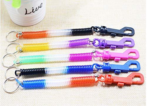 Polymer True Utility Spring Rope Keyring Flexible Spiral Coiled Strap Key Holder Keychain ()
