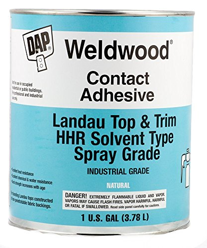 - Dap Weldwood Contact Adhesive - Landau Top and Trim HHR Solvent Type Spray Grade 1 Gallon
