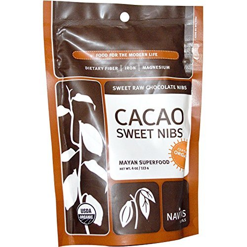 Organic Sweetened Cacao Nibs, 4 oz ( Pack of 5)