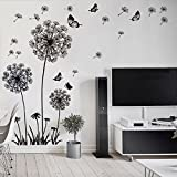 Best Wall Stickers For Bedroom Sofas - FiveRen Dandelion and Butterflies Self-Adhesive Wall Decals Stickers Review