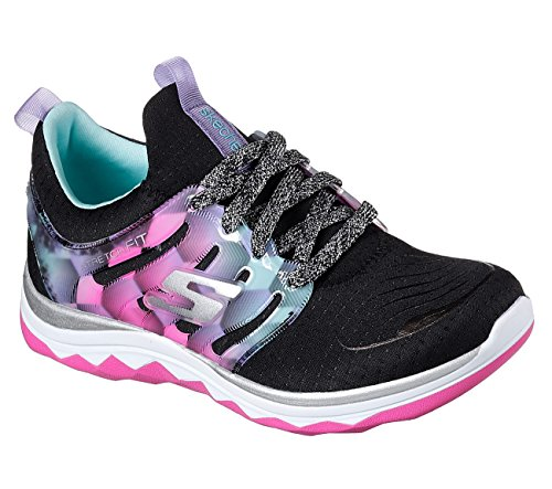 Skechers Kids Girls' Diamond Runner Sneaker,Black/Multi,