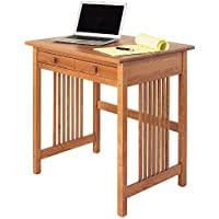 Manchester Wood Mission Compact Desk - Golden Oak