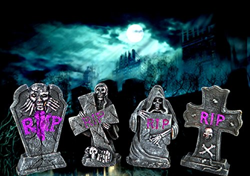 Maikerry Halloween Tombstones-Halloween Foam Tombstone RIP Stone Grisly Props Tombstone Decorations Party Decor Yard Decoration(Random Style)
