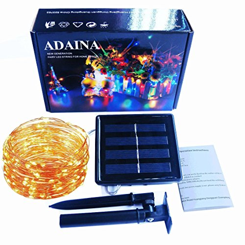 ADAINA Solar String Fairy Lights,20M 66Ft/200 LEDs Starry Firefly Rope Twinkling Lights,1800mAh,Outdoor Waterproof Garden Patio Decoration for Christmas,Wedding,Indoor Home Party(Warm White)