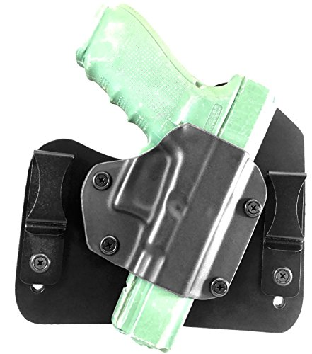 Glock 20 & 21 Hybrid Holster IWB Tuckable Concealable adjustable retention Right Hand Black