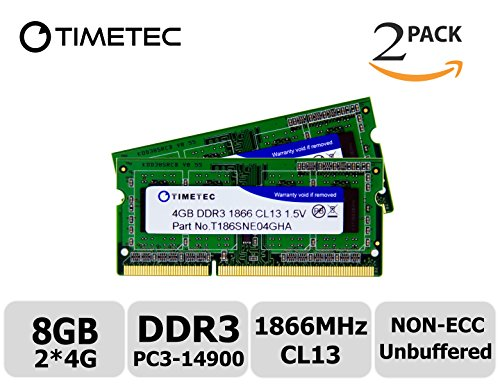 Timetec Hynix IC 8GB Kit (2x4GB) DDR3 1866MHz PC3-14900 Unbuffered Non-ECC 1.5V CL13 1Rx8 Single Rank Laptop Notebook Computer Memory Ram Module Upgrade (8GB Kit - Pc Components Mini Aopen
