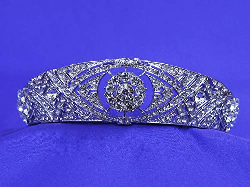 Meghan Markle Wedding Rhinestone Crystal Tiara Replica Crown Headband duchess of sussex ()