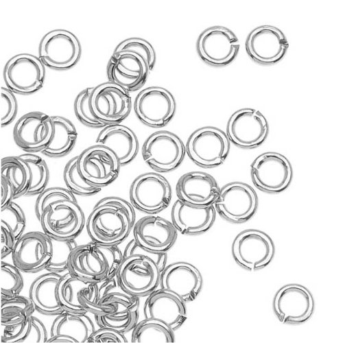 Beadaholique 100-Piece Open Jump Rings, 3mm, Silver