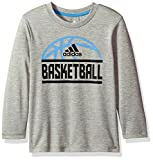 adidas Little Boys' LS Sport Split Tee, Grey, 6