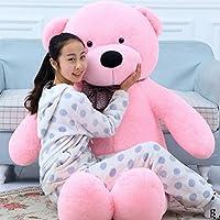 Toyhub Soft 4 Feet Teddy Bear With Neck Bow (152 Cm Pink)