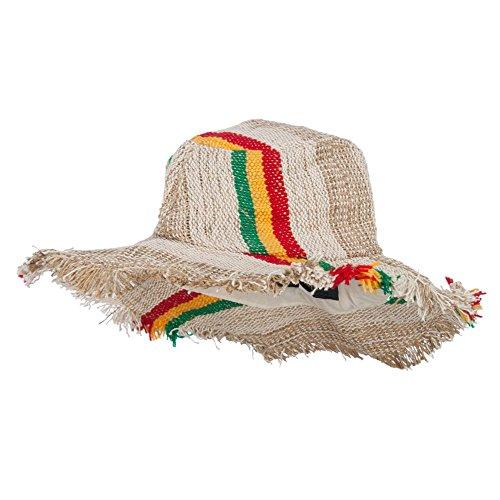 Kathmandu Frayed Brim Rasta Hemp Hat - Natural (Rasta Hemp)