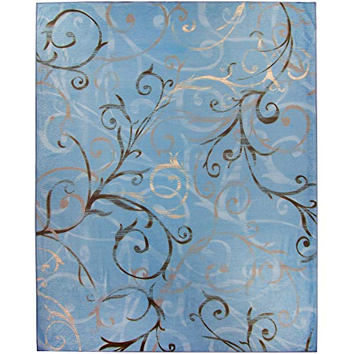 RUGGABLE Washable Stain Resistant Indoor/Outdoor, Kids, Pets, and Dog Friendly Area Rug 8'x10' Ironworks Swirls Slate Blue