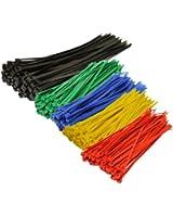 Topzone® Assorted Color Nylon Cable Zip Ties Self Locking, 250-Piece