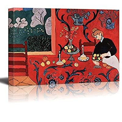 Red Room Harmony in Red by Henri Matisse Giclee Canvas Prints Wrapped Gallery Wall Art | Stretched and Framed Ready to Hang - 16