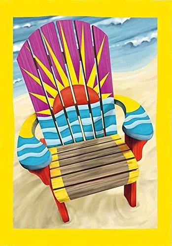 (Adirondack Sunset Beach Flag Dbl Sided 29 x 43 )