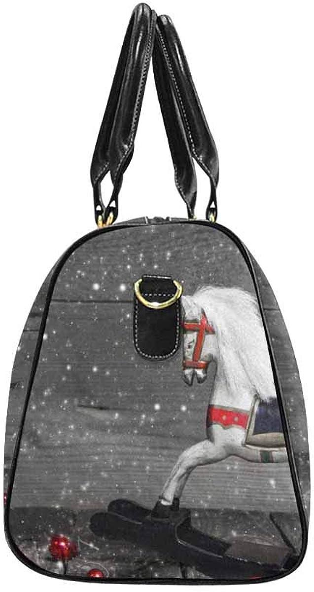 INTERESTPRINT Carry-on Garment Bag Travel Bag Duffel Bag Weekend Bag Old Wooden Horse
