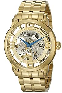 "Stuhrling Original Men's 165B2B.333331 ""Classic Winchester 44 Elite"" 23k Gold-Layered Automatic Watch"
