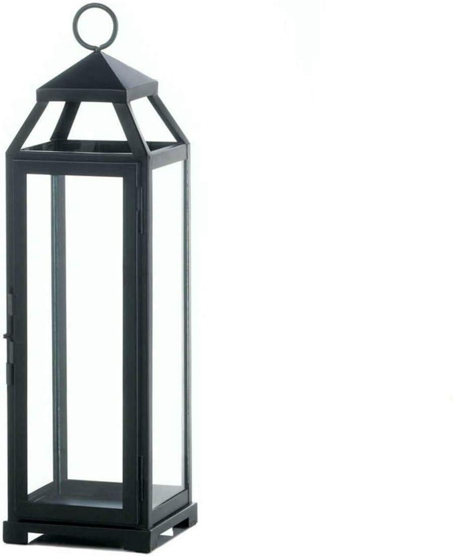 Koehler Large Lean & Sleek Candle Lantern, Black