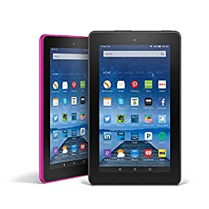 Fire Tablet Variety Pack, 16GB - Includes Special Offers (Black/Magenta)
