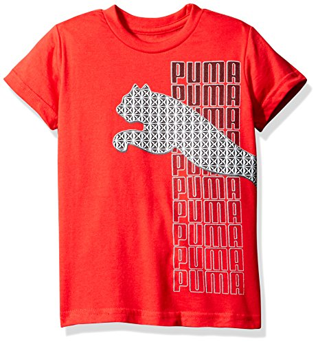 Price comparison product image PUMA Big Boys' Graphic Tee, Star Red Cat, Medium (10/12)