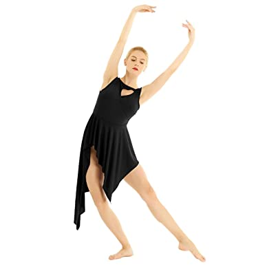 59b397594 TiaoBug Women Ladies Sleeveless High Low Leotard Gymnastics Ballet Lyrical Dance  Dress: Amazon.co.uk: Clothing