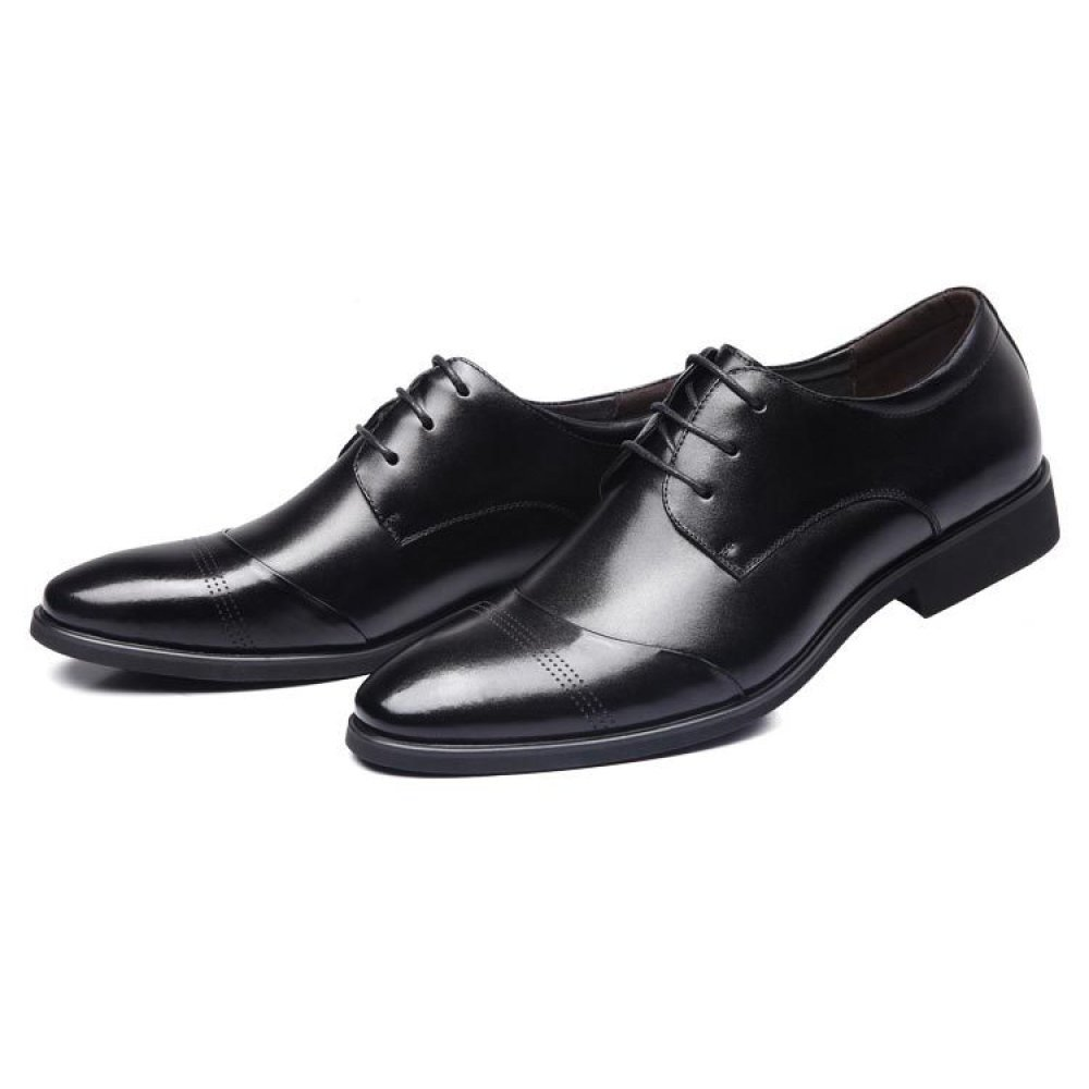 HGDR Männer Spitz Formale Leder Oxford Derby Schuhe Smart Business Hochzeit Kleid Schnürung Büro Business Smart Arbeit Abendgesellschaft Freizeitschuhe schwarz 472b4e