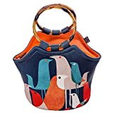 Large Neoprene Lunch Bag Purse by ART OF LUNCH - 11'' X 15'' X 6'' Reusable Insulated Lunch Bag with Inside Pocket - Design by Budi Kwan (Indonesia) - Flock of Birds