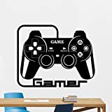 Gamer Gamepads Wall Decal Gaming Vinyl Sticker Joystick Gamepad Video Game Wall Art Design Teen Room Gaming Room Wall Decor Kids Room Housewares Bedroom Decor Removable Wall Mural 139xxx