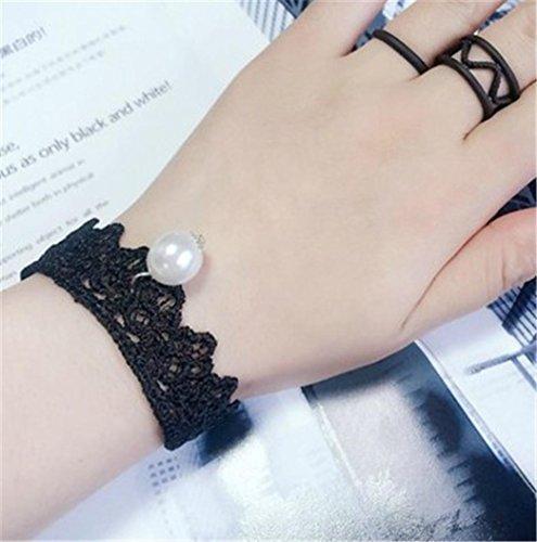 Oyedens 4 PièCes Garniture Bracelet Sertie Velours Classique Gothique Tatouage Bracelet Dentelle Garniture