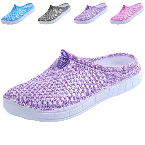 clootess Clogs Quick Purple Drying Walking Women Garden Slippers Shoes Sandals 4qnwET4rOH