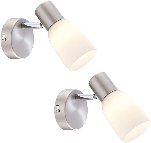 LED Design Wand Lampe Wohn Zimmer Holz Strahler Chrom Lese Leuchte verstellbar