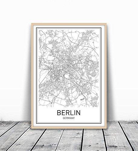 Berlin Poster, Berlin Map, Berlin Art, Map of Berlin, City Map Posters, Berlin Map