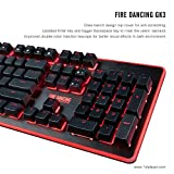 1STPLAYER Fire Dancing Mechanical Feeling Gaming Keyboard GK3 Black