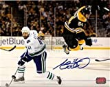 Adam McQuaid signed Boston Bruins Stanley Cup Finals action flying photo 8x10