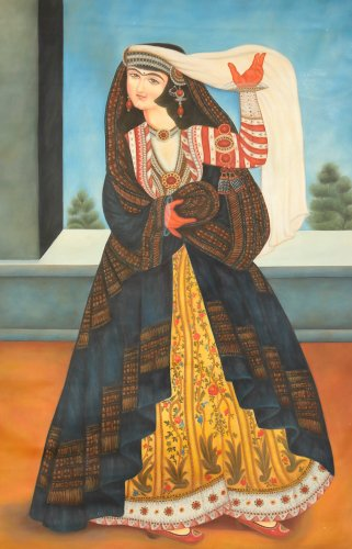 Persian Woman - Oil Painting on Canvas