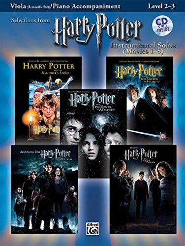 Harry Potter Instrumental Solos for Strings (Movies 1-5): Viola, Book & CD (Pop Instrumental Solos Series)