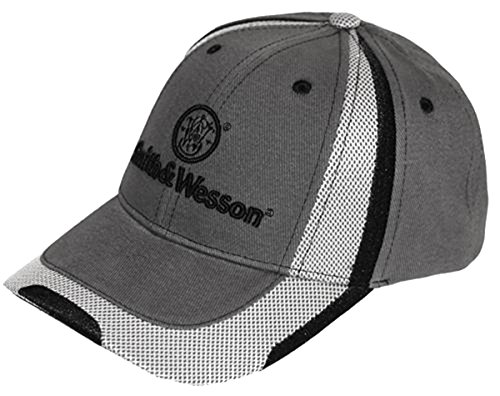 Smith Men's And Wesson Mesh Embroidered Logo Cap Chrcl Grey One Size