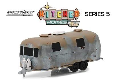 Unrestored Airstream Safari Trailer Camper 1//64 Christmas Ornament Vacation RV