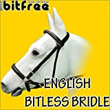 COB SIZE HILSAON BITFREE LEATHER ENGLISH BITLESS BRIDLE HORSE BROWN W/ REINS