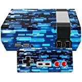 MightySkins Protective Vinyl Skin Decal for Nintendo NES Classic Edition wrap Cover Sticker Skins Space Blocks