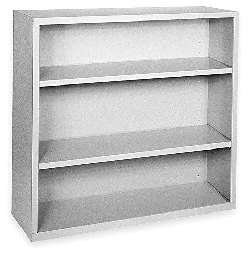 - 46' x 18' x 42' Elite Series Stationary Bookcase with 3 Shelves, Dove Gray