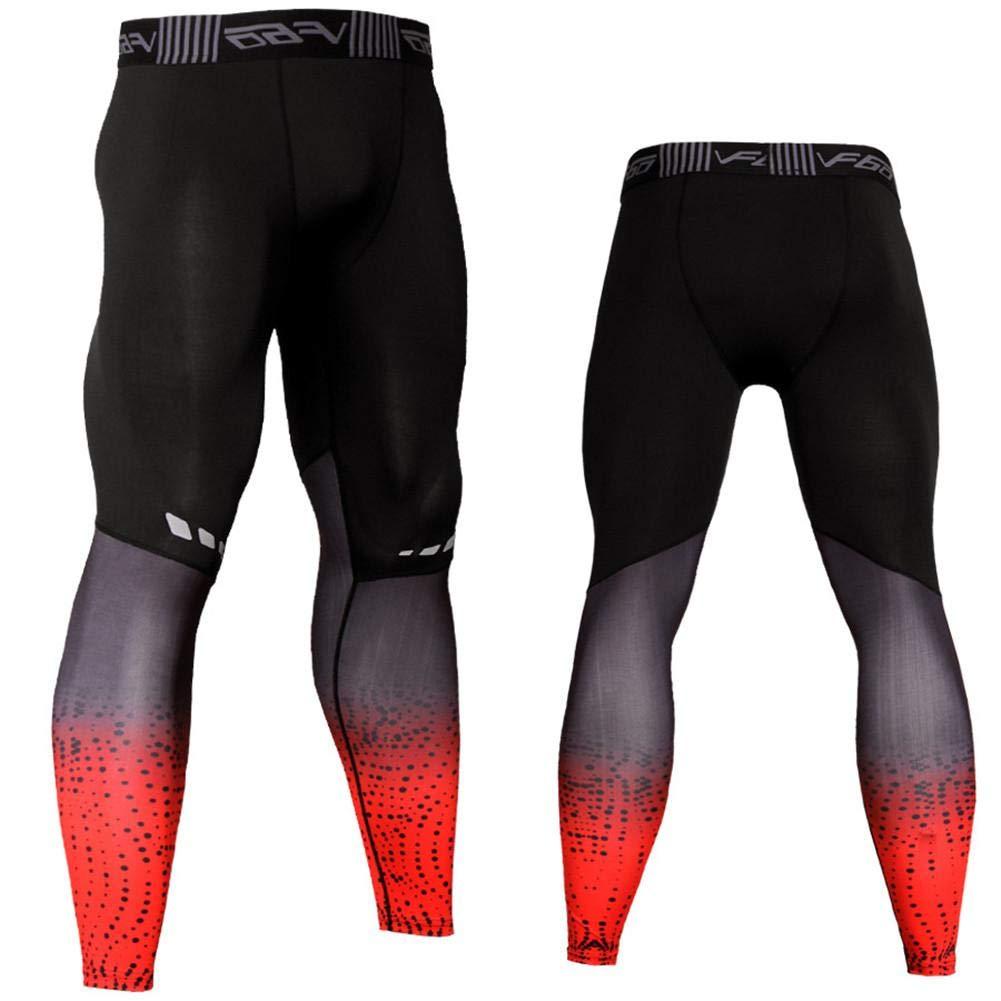 Leggings di Fitness Patchwork Stretchy Yoga Pants Gym Workout Tights Abbigliamento Sport Respirabili Pantaloni Bodybuilding Compression da Uomo 3D Print Wear Abbigliamento da Allenamento Training