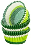 Regency Wraps Greaseproof Baking Cups, Green Swirl, 40-Count, Standard.