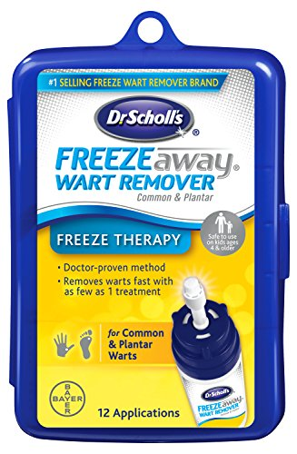 Dr. Scholl's FreezeAway Wart Remover, 12 Applications // Doctor-Proven Treatment to Rapidy Freeze and Remove Common and Plantar Warts