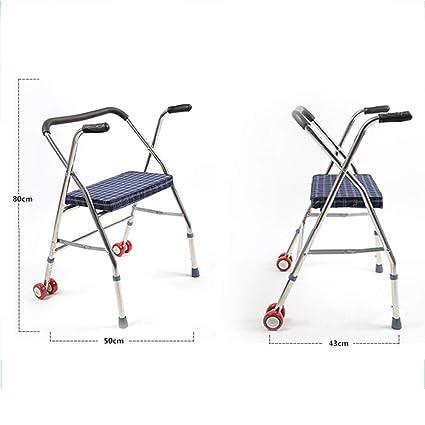 YL&TS Andador para Ancianos Aluminio Ultraligero Plegable ...