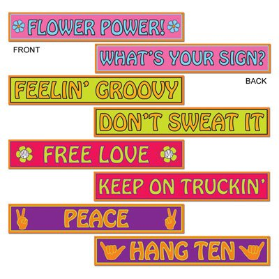 60's Street Sign Cutouts   (4/Pkg) (Feelin Groovy Accessory)